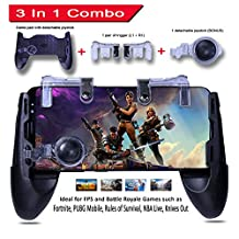 PUBG Fortnite MOBILE GAME CONTROLLER – 3 in 1 Gaming Joystick, Stand, Trigger, Holder, Shooter for Fortnite / PUBG / Rules of Survival