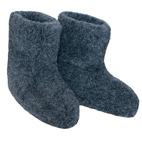 pieds de bleu laine Chaussons mouton de en pétrole chauffe chaussons 100 SamWo tailles EqFtt