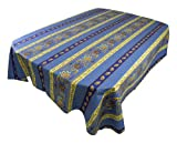 Le Cluny French Country Lisa Tablecloth 96x60, Blue