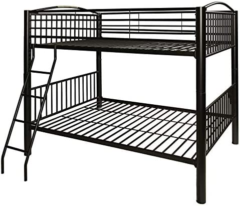 Powell Heavy Metal Bunk Bed, Full-Over-Full, Black