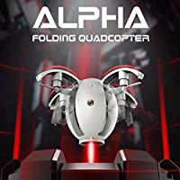 Mini RC Helicopter, Kids RC Toy, KaiDeng K130 Alpha Folding Transformable Egg Drone 2.4GHZ 4CH 6-Axis FPV RC Quadcopter Gyro with WIFI 0.3MP Camera