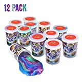 Kicko Bulk Marbled Unicorn Color Slime - Putty Cups - Galaxy Slime - 12 Pack Rainbow Colorful Sludge Toy for Any Child Favor, Birthday