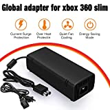 YCCTEAM Xbox 360 Slim Power Supply, AC Adapter Power Supply Cord for Xbox 360 Slim Auto Voltage