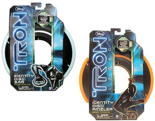 Tron Legacy Identity Disc Roll Play: Rinzler & Sam 2 Lot Set