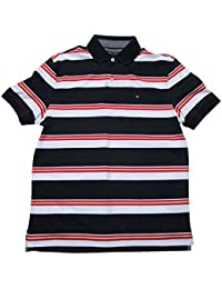 Men's Striped Interlock Polo