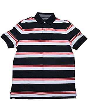 Men's Striped Interlock Polo