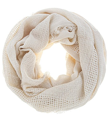 Earthy Tone Solid Color Infinity Scarf (Oatmeal)