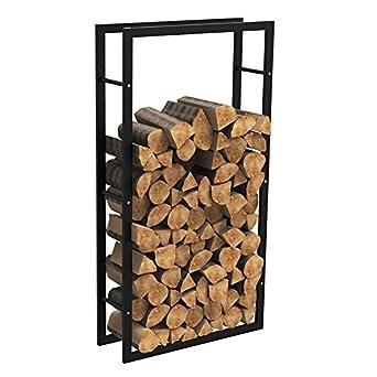 MCTECH® - Estante metálico para leña de chimenea, soporte para leña, alojamiento para guardar leña, 150*80*25cm: Amazon.es: Amazon.es