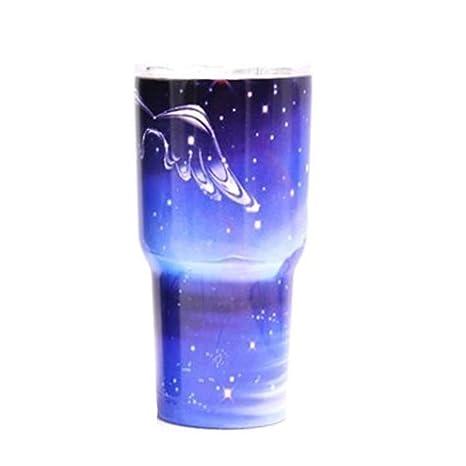 Vaso de acero inoxidable con tapa, vasos de vino aislados ...