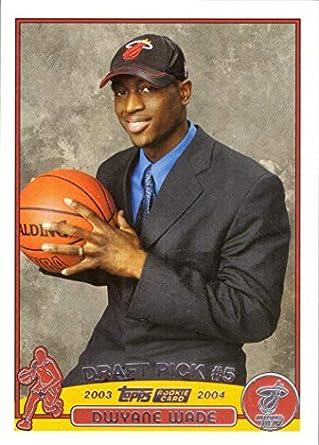 Amazoncom 2003 04 Topps Basketball 225 Dwyane Wade Rookie