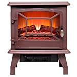 "FIREBIRD 15"" 1500W Adjustable 2 Setting 5200BTU Freestanding Portable Tempered Glass Electric Fireplace Stove Heater by FIREBIRD"