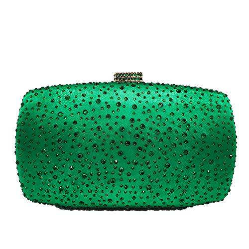 (Diamond Women Evening Handbags Purse Minaudiere Clutch Bag (Green))