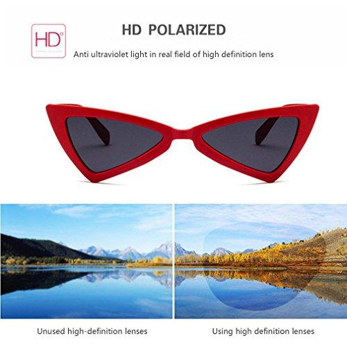 de Gafas UV400 triángulo sol de de diseño para gafas sol mujer gato viaje de de ojo UwrXqFRvUx