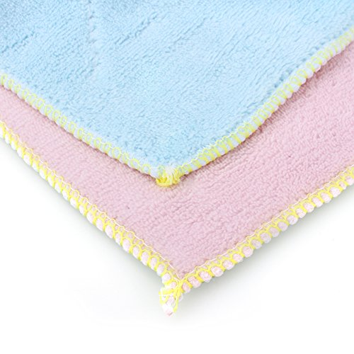 Yosoo Dish Cloth Towel,10 Pack - Bamboo Fiber Dish Towel Kitchen Clean Towels Dishcloth Household Wash Rag, 10.2 x 6.2 by Yosoo (Image #4)