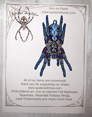 Poecilotheria Metallica Tarantula Gooty Sapphire Ornamental Tree Spider Iron on -