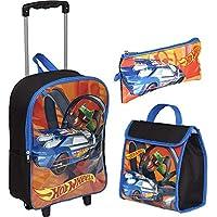 Kit Mochila Infantil Hot Wheels 19x 3d Estojo Sestini