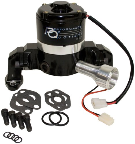 - PRW 4435007 Black Powder-Coated Performance Quotient Electric Racing Water Pump for Chevy SB 265-400