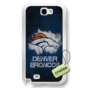NFL Denver Broncos Team Logo Samsung Galaxy Note 2 Transparent Hard Plastic Case Cover - Transparent