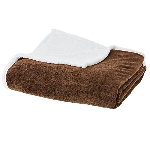 Cheer Collection Faux Fur Sherpa Fleece Throw Blanket | Supe