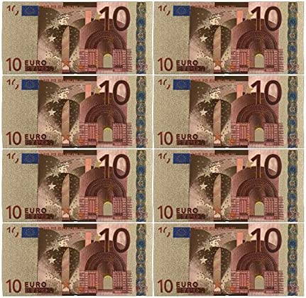 CHENTAOCS コレクションやギフトEUマネー絶妙なクラフト用カラーユーロ紙幣10個入り/ロット20 EUR金箔紙幣 使いやすい (色 : B)