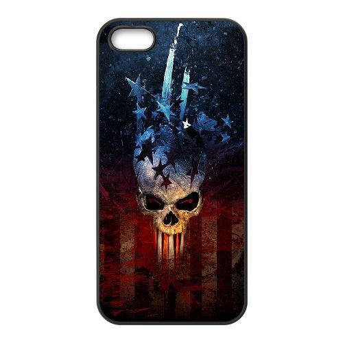 Diablo 001 coque iPhone 5 5S cellulaire cas coque de téléphone cas téléphone cellulaire noir couvercle EOKXLLNCD23222
