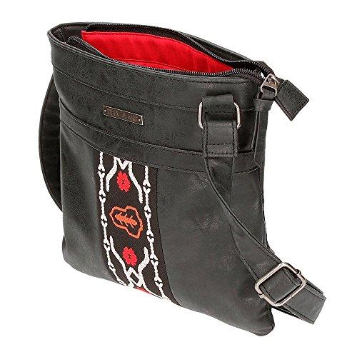litros Liza Bandolera Negro 8 Bolso 25 Jeans cm Negro Pepe 1 85qaOa
