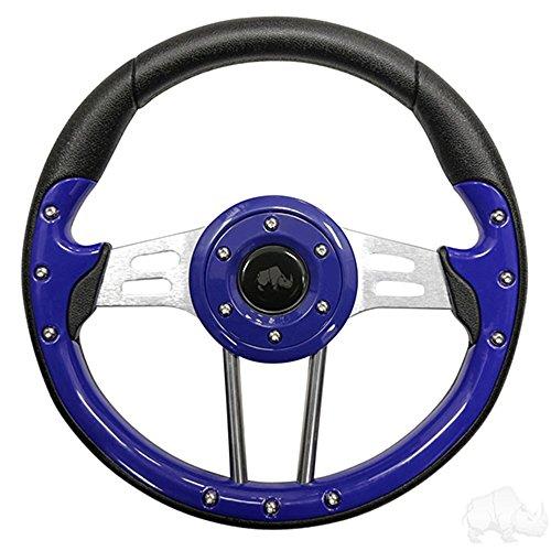 (Aviator 4 Golf Cart Steering Wheel (Blue))