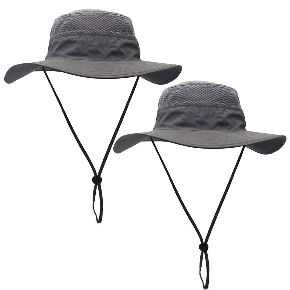 ToVii Windproof Fishing Hats UPF50 UV Protection Sun Cap Outdoor Bucket Mesh Hat 22-24 inch