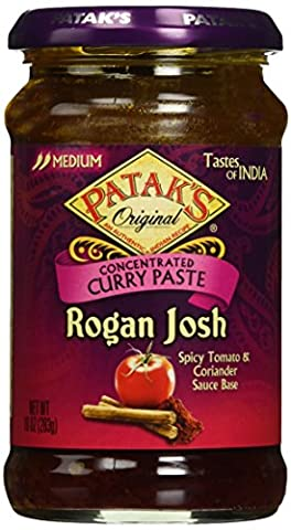 Pataks Rogan Josh Cooking Sauce, Spicy Tomato and Cardamom, 10 Ounce - Patak Curry Paste