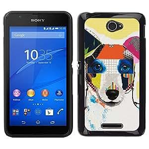 // PHONE CASE GIFT // Duro Estuche protector PC Cáscara Plástico Carcasa Funda Hard Protective Case for Sony Xperia E4 / Jack Russell Terrier Dog Art Modern Canine /