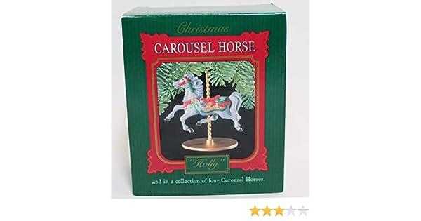 Hallmark Keepsake Ornament Carousel Horse Snow 1 of 4 XPR9719