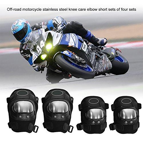 EBTOOLS 4 Protectores de Rodilla para espinilleras, Coderas y Rodilleras de Motocicleta, Protectores de Rodilla, para...