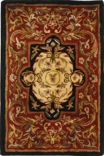 Safavieh Classic Collection CL220C Handmade Traditional Oriental Red and Black Wool Area Rug (2