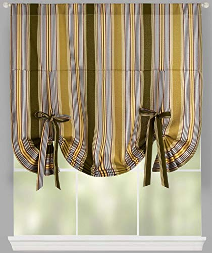 Traditions By Waverly Lovers Lane Striped Tie-Up Window Shade, 42