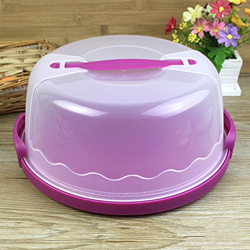 LanLan Plastic Cake Keeper Cake Caddy / Holder / Container / Carrier Suitable for 10in Cake or Less Color Random