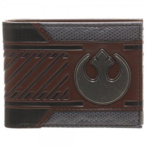 Star Wars Rebel Emblem Logo Mix Material Bi-fold Gift Boxed Wallet - Star Rebel Wars