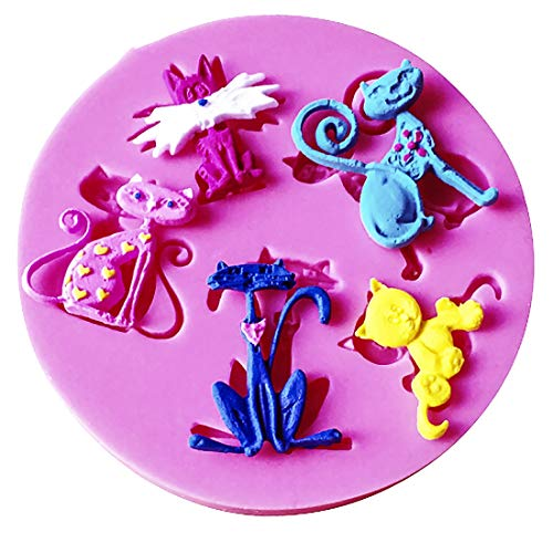 Food Grade Fondant Cake Silicone Mold Halloween Cat Shaped For Polymer Clay Chocolate Pastry Candy Making Decoration Tools