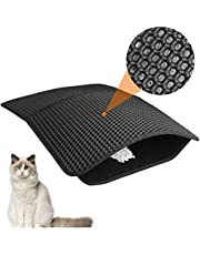 """Cat Litter Catcher Mat Litter Trapping Jumbo 25"""" x 17"""", Honeycomb Double Layer Cat Litter Mat for Litter Box, Large Waterproof Cat Litter Box Trapping Mats, Can be Spliced, Easy to Clean"""