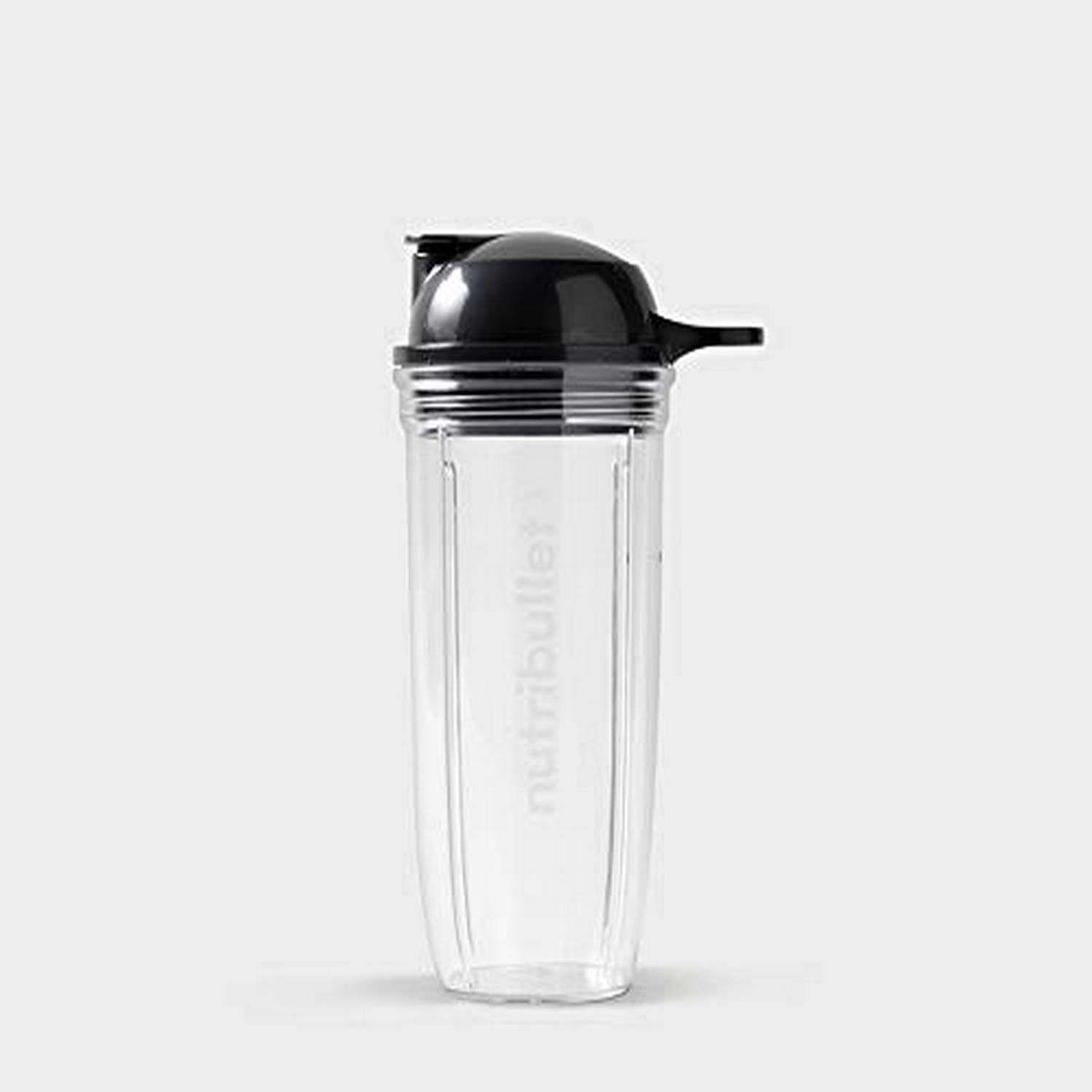 NutriBullet 24 oz Cup with To-Go Lid, Clear/Black