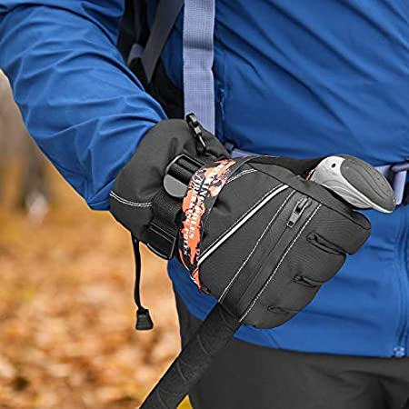 Snowboard Sport invernali allaperto Andake Guanti da Sci Donna 3M Thinsulate Caldo Guanti Invernali Impermeabile A prova di vento Touchscreen Guanti sportivi con Tasca Cerniera per Sci Equitazione Alpinismo