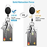 2 Pack Heavy Duty Retractable Badge Holders with