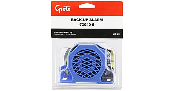 730405 Grote 73040-5 Medium Low Noise Surround Backup Alarm with Wire Studs 97 Decibels