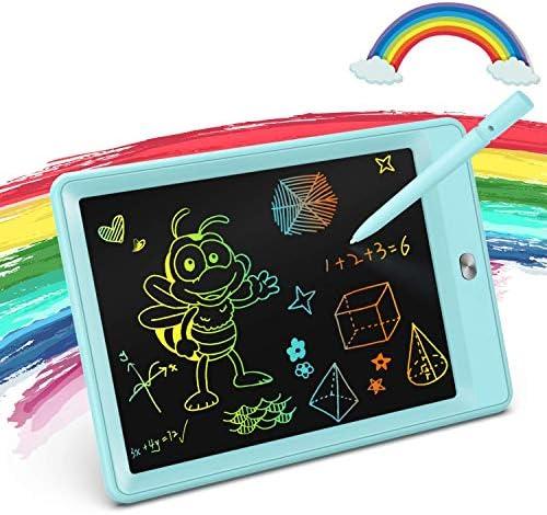 KOKODITableta de escritura LCD de 85 pulgadas colorida tableta de dibujo tablero de dibujo electrónico con función de bloqueo juguetes educativos y de aprendizaje para ni ntilde;as de 3 4 5 y 6 a ntilde;os azul