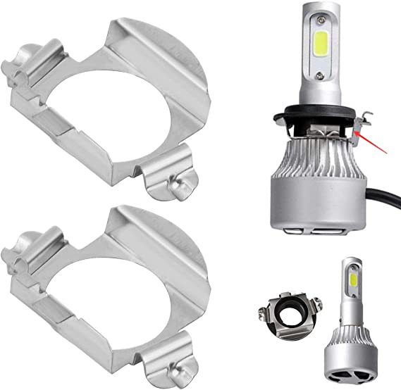 Keenso Bulbs Adapter Retainer Holder Silver for Mercedes Benz Ford 2 pcs//pair H7 LED Headlight Adapter
