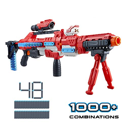 XShot Excel Regenerator Foam Dart Blaster with Over 1,000 Unique Combinations! (48 Darts) by ZURU