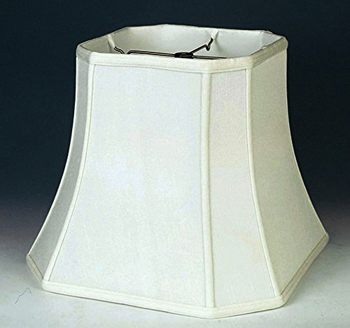 Lamp Shade Corners Shantung wide WHITE