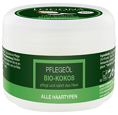 LOGONA Naturkosmetik Pflegeöl Bio-Kokos, Für alle Haartypen geeignet, Pflegt und nährt das Haar, Massage der Kopfhaut und beanspruchter Körperpartien, Vegan, 45ml 92.0