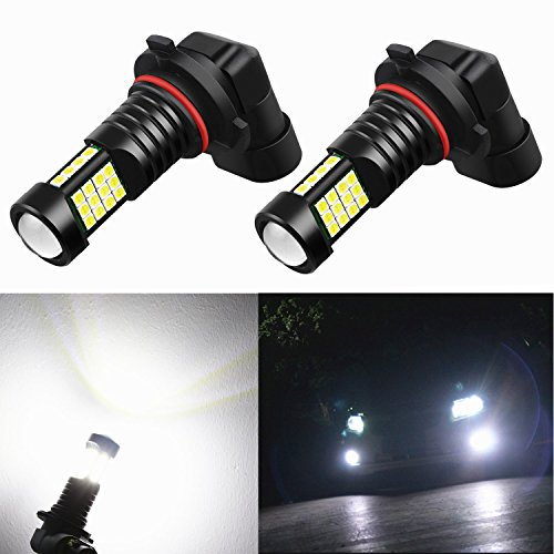 Alla Lighting 2000 Lumens High Power 3030 36-SMD Extremely Super Bright 6000K Xenon White H10 9140 9045 9040 9145 LED Bulbs for Fog Driving Light Lamps Replacement