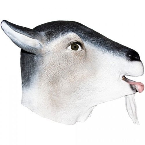 Costume Billy Adults Goat (Realistic Billy Goat Mask: Full Face Rubber Latex Costume)
