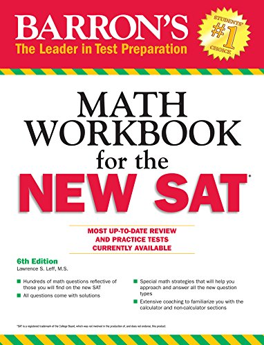 Barron's Math Workbook for the New SAT (6th 2016) [Leff]